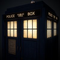 10th doctor tardis 3D