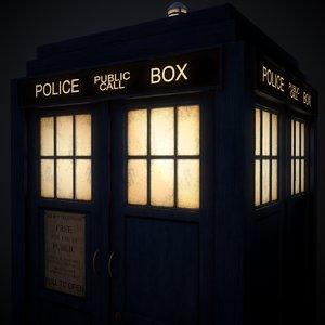 10th doctor tardis 3D