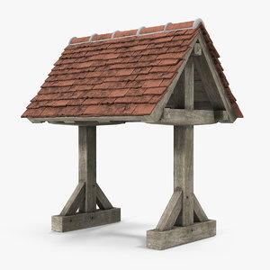 3D roof tile model