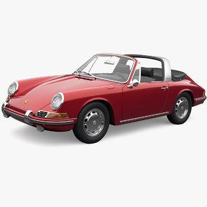 3D model porsche 911 targa 1967