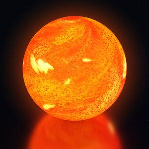 3D model sun star