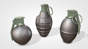 grenades 3D model