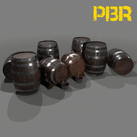 3D ready barrel wine model