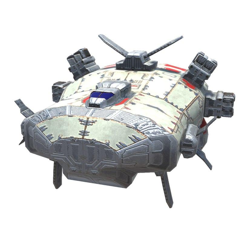 missile corvette 3D model