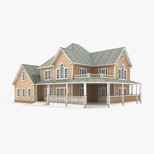 two-story cottage 77 3D model