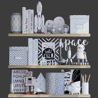 Decorative set for boy childroom