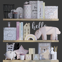 3D decorative toys accessories