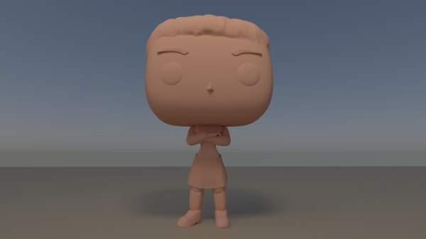 custom pop female arms 3D model