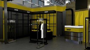 duty dress shop 01 3D model