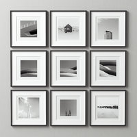 picture frames set 3D