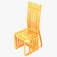sticking chair frank gehry 3D model