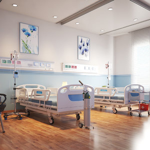 3D model real hospital room interior