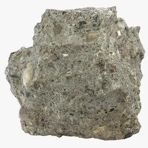 3D broken concrete piece 07