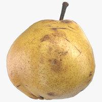 comice pear 03 ready 3D model