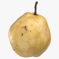 3D comice pear 05 ready