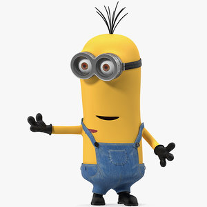 3D tall eyed minion rigged
