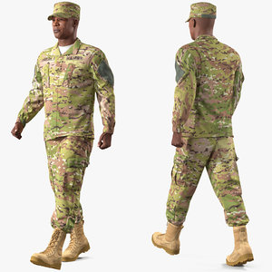 3D army soldier male rigged