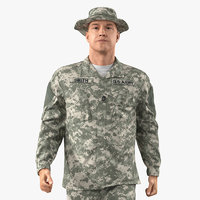 3D army soldier military acu