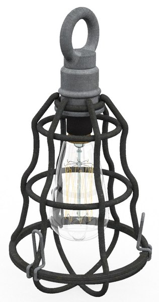 industrial themed lamp edison 3D model