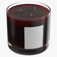 3D scented candle big glass