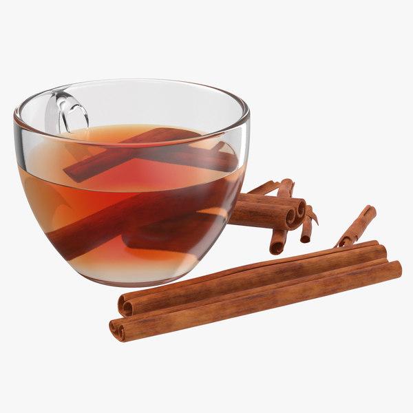 tea cinnamon 3D model