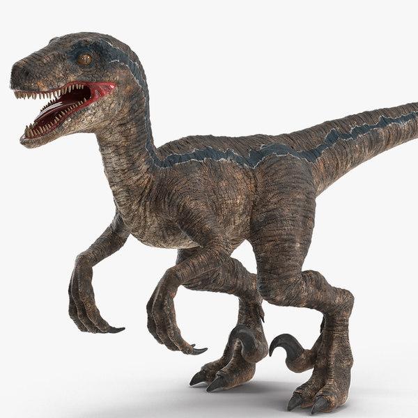 velociraptor rigged 3D model