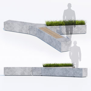 3D bench furniture