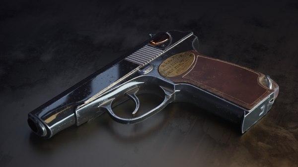 3D makarov pistol model