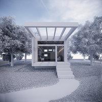 3D wood house