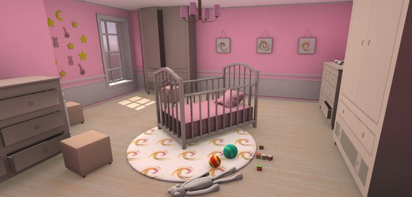 3D vr small girl s