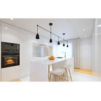 white modern kitchen model
