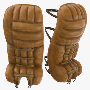 ice hockey goalie pads 3D model