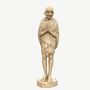 sculpture gandhi 3D