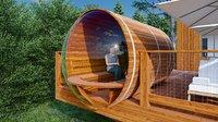 3D bubble barrel sauna