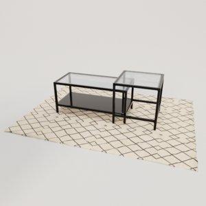 3D modern furniture coffee table