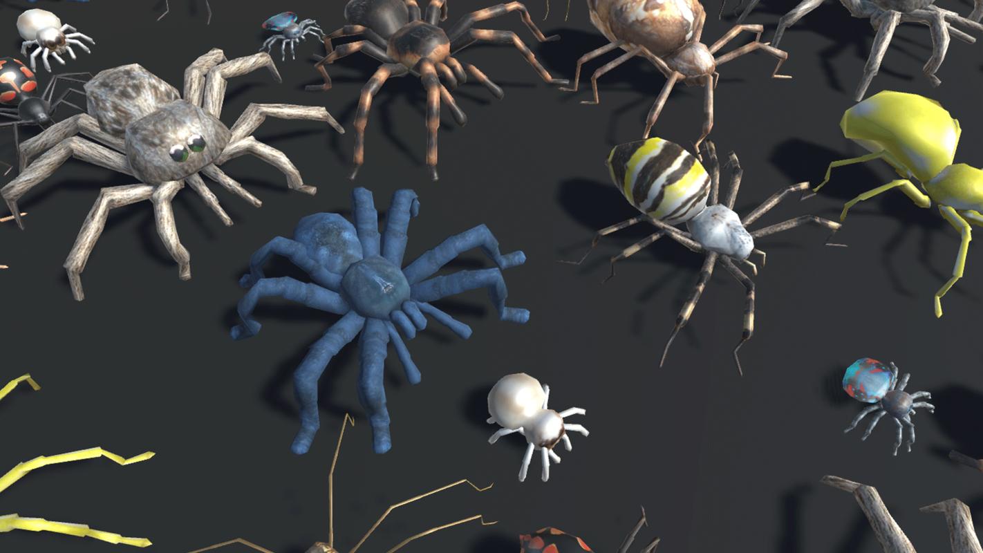 3D vr spider model