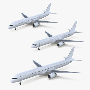 3D boeing 757 rigged