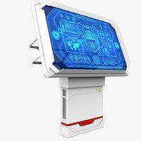 sci-fi monitor real 3D model