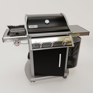 3D barbeque grill
