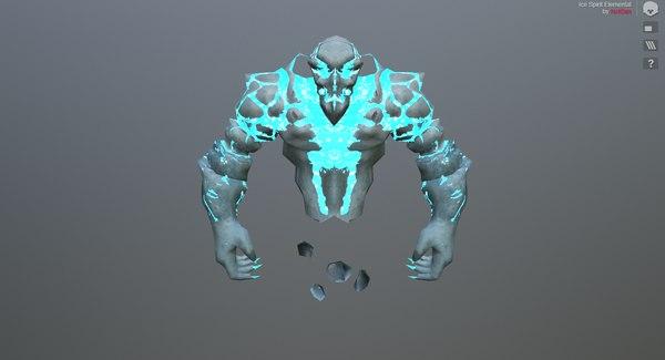 spirit elemental 3D model