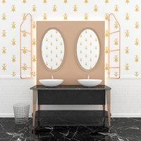3D sink scavolini washbasin