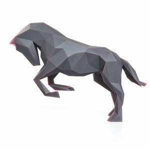 3D horse pose model