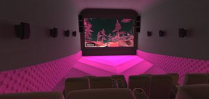 3D vr vip hall interior