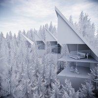 modern tree house 3D model