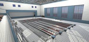 3D interior swimming pool model