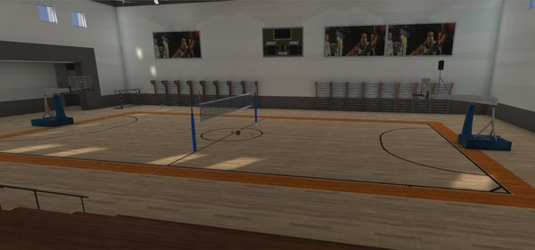 sport basketball football volleyball 3D model