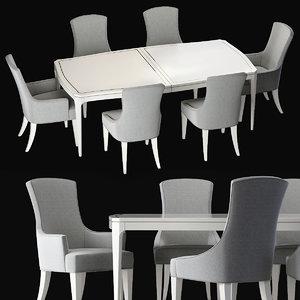 calista dining 2 3D model