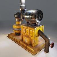 3D pump machine model