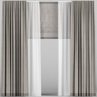 curtain brown roman model