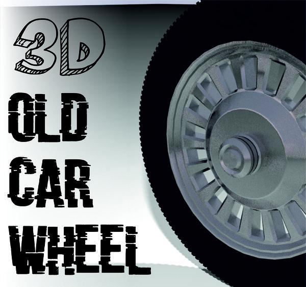 old car whell 3D